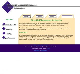 DMS website, circa 2004